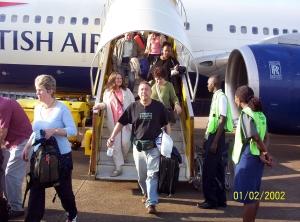 Landing in Entebbe