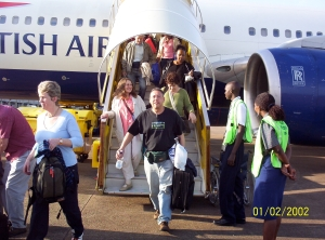 Landing in Entebbe