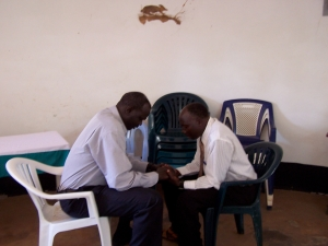 Sudanese pastors getting a rare opportunity to prayer for one another