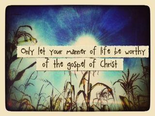 worthy of the gospel